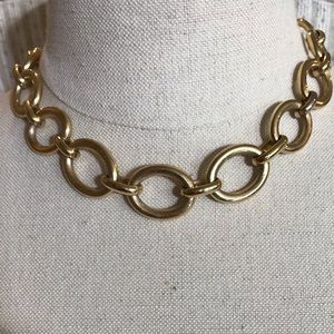 Banana Republic Gold Chain Rhinestone Necklace